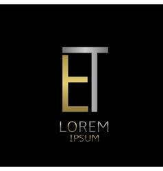 ET letters logo vector image