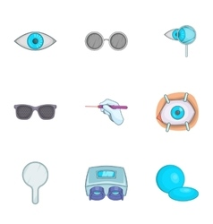 Eyes icons set cartoon style vector image