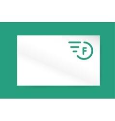 Fast line letter logo monogram business vector image