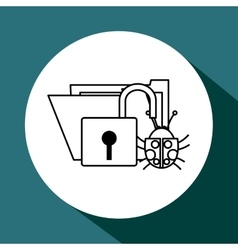File design security icon Isolated vector image
