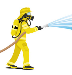 Fireman in a gas mask vector