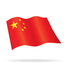 Flying flag of china vector
