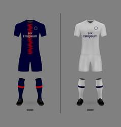 Football kit shirt template vector