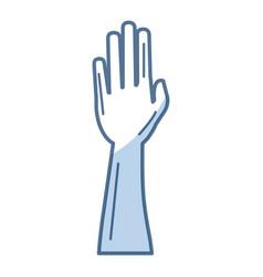 Hand human raised icon vector