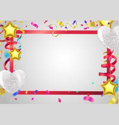 happy birthday colorful flat design vector image