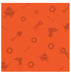happy labor day orange pattern background vector image