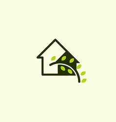 home leaf life naturally business logo vector image