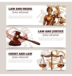 Horizontal Law Banners vector image