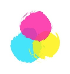 Ink colored circles vector