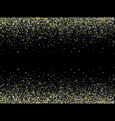 isolated on black confetti background with vector image