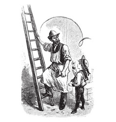 Ladder vintage vector