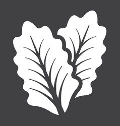 lettuce solid icon vegetable and salad leaf vector image