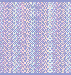 lilac abstract fish net loop pattern vector image