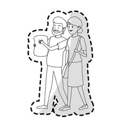 Man and woman friends icon image vector