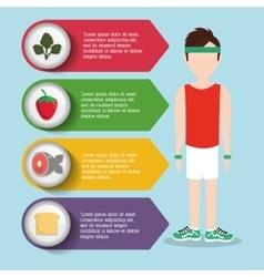 Man boy healthy lifestyle design vector