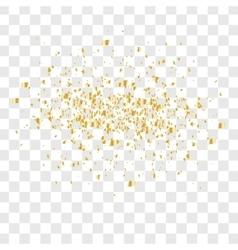 Many falling confetti vector