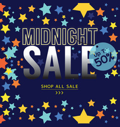 Midnight sale banner advertising promotion vector