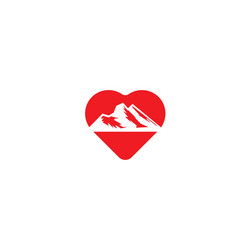 mountain love logo designs inspiration isolated vector image