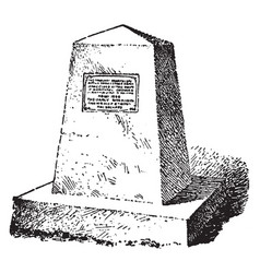 Northern spy monument vintage vector