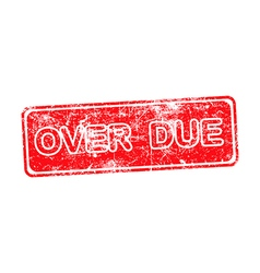 OVERDUE red rubber stamp over a white background vector image