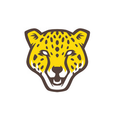 panther head logo icon vector image