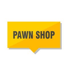 Pawn shop price tag vector