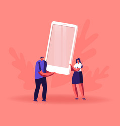 people using smartphone concept digital portable vector image