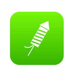 Petard icon digital green vector