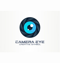 photo camera eye digital vision creative symbol vector image