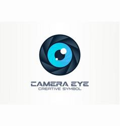 Photo camera eye digital vision creative symbol vector