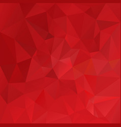 Polygonal square background vibrant red vector