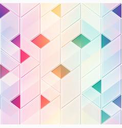 rainbow frame mosaic pattern vector image