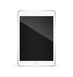 Realistic tablet pc computer with blank screen vector