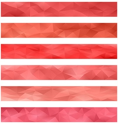 Red banner background set vector image