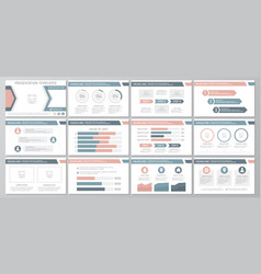 Set of blue and red elements for multipurpose vector