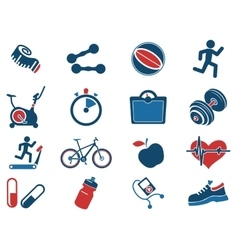 Set of icons on fitness vector image