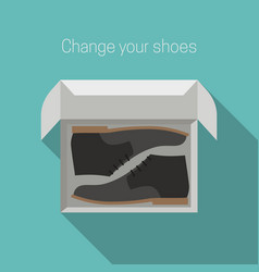 Shoes in box vector