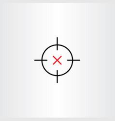 sniper target icon design symbol vector image