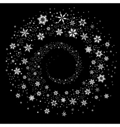 snowflakes spiral vector image