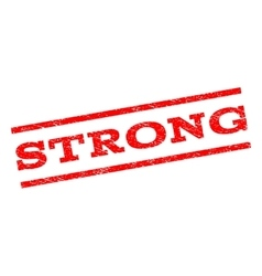 Strong watermark stamp vector