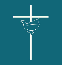 The cross of jesus christ and the holy spirit vector