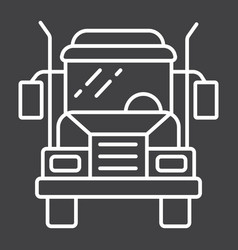 truck line icon transport and vehicle cargo sign vector image