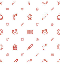 Warm icons pattern seamless white background vector