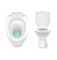white toilet icon set realistic vector image