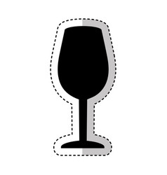 Wine cup silhouette isolated icon vector