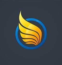 wing symbol logo vector image