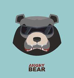 Bear head Angry bear logo Hockey emblem vector image