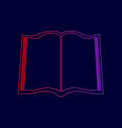 book sign line icon with gradient from vector image