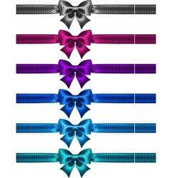 Festive polka dot bow knots with ribbons vector image vector image