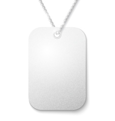 identity tag vector image